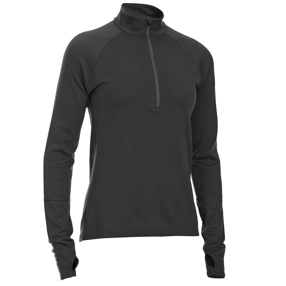 EMS® Women's Techwick® Midweight ¼-Zip Base Layer - BLACK