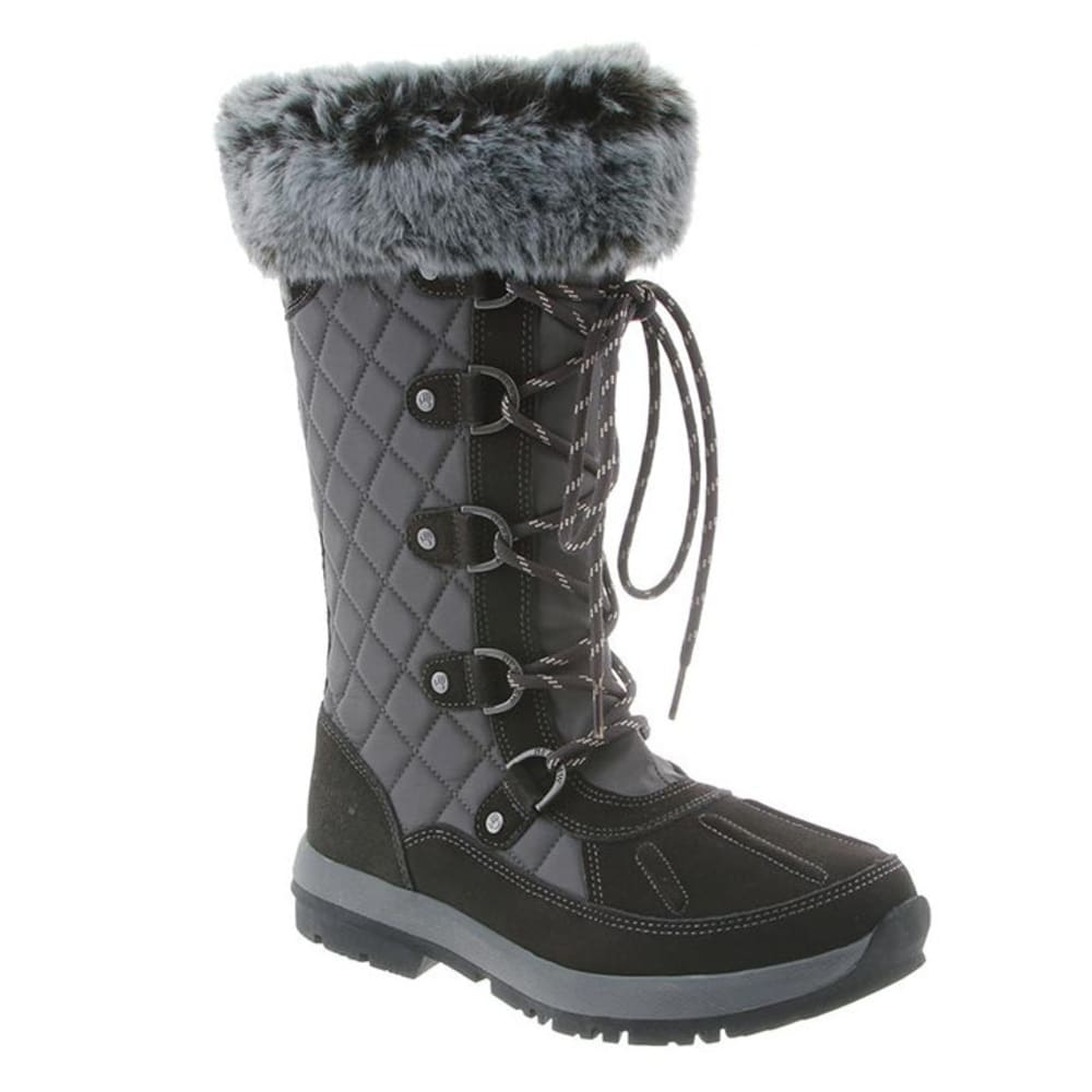 BEARPAW Women's Quinevere Boots, Charcoal - CHARCOAL