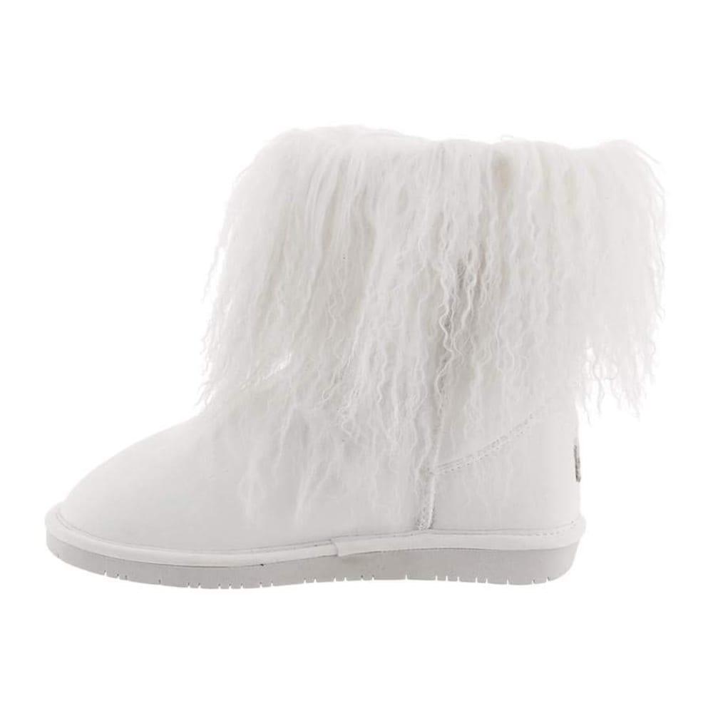 BEARPAW Women's Boo Boots, White - WHITE