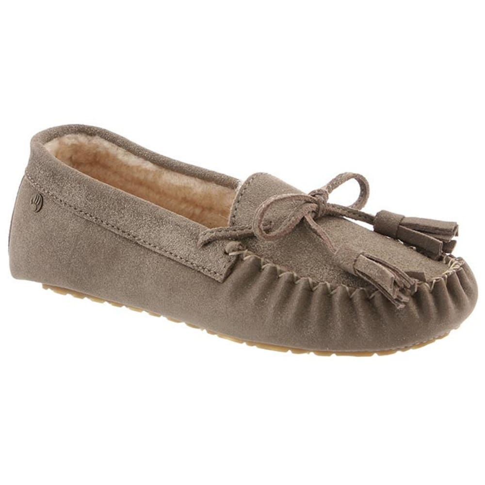 BEARPAW Women's Rosalina Slippers, Pewter Distressed - PEWTER DISTRESSED
