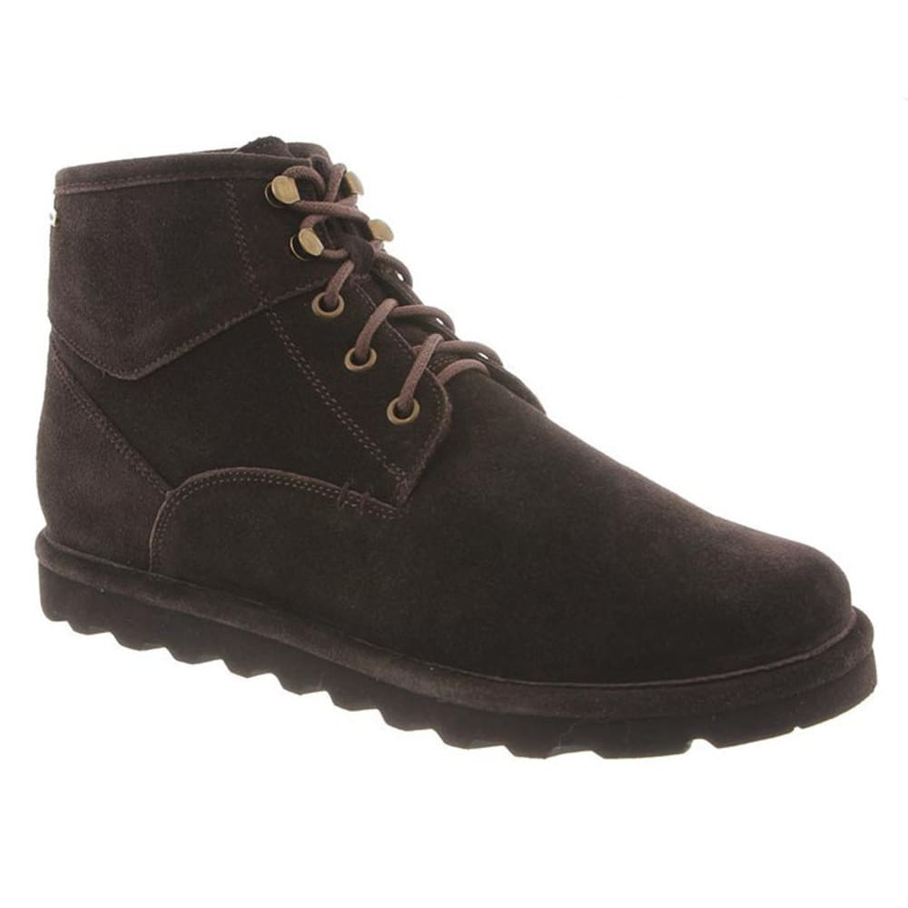 BEARPAW Men's Rueben Boots, Chocolate II - CHOCOLATE II