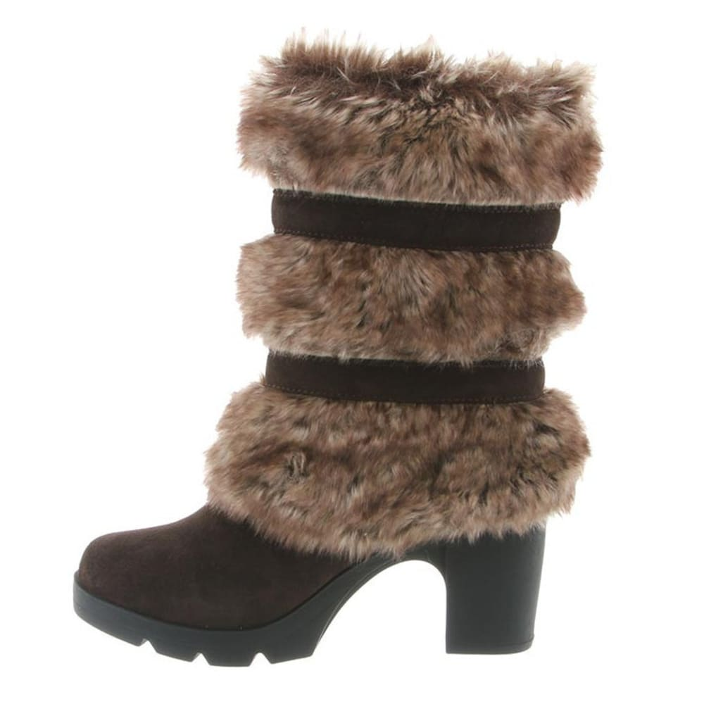 BEARPAW Women's Bridget Boots, Chocolate II - CHOCOLATE II