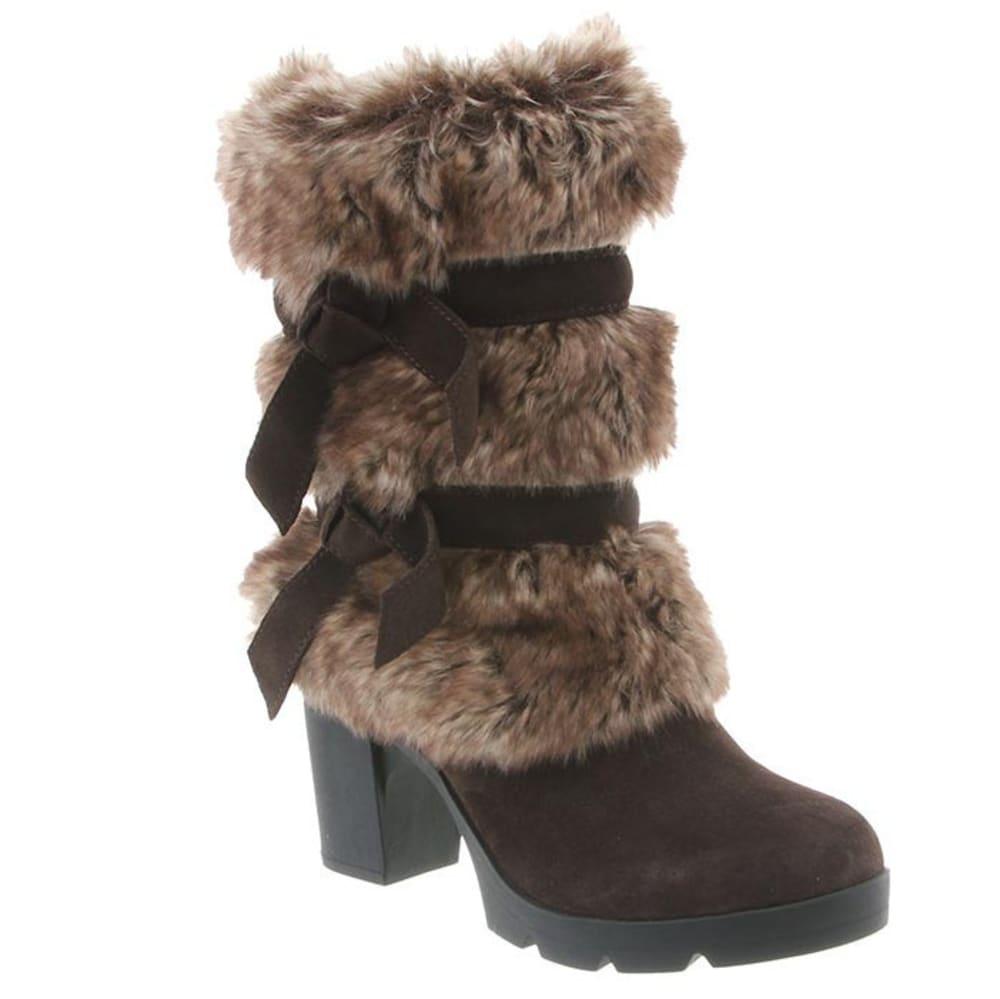 BEARPAW Women's Bridget Boots, Chocolate II - CHOCOLATE II