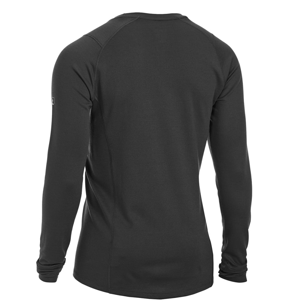 EMS® Men's Techwick® Midweight Long-Sleeve Crew Base Layer - BLACK