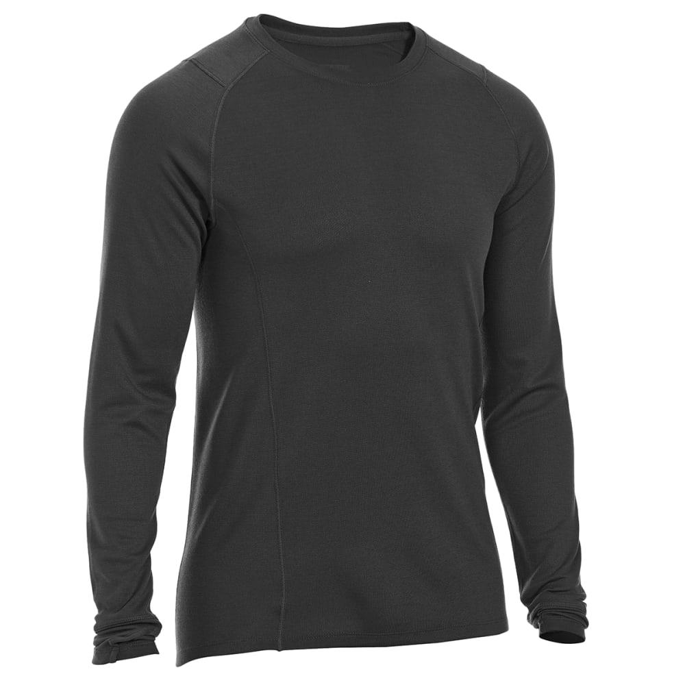 EMS® Men's Techwick® Midweight Long-Sleeve Crew Base Layer - BLACK