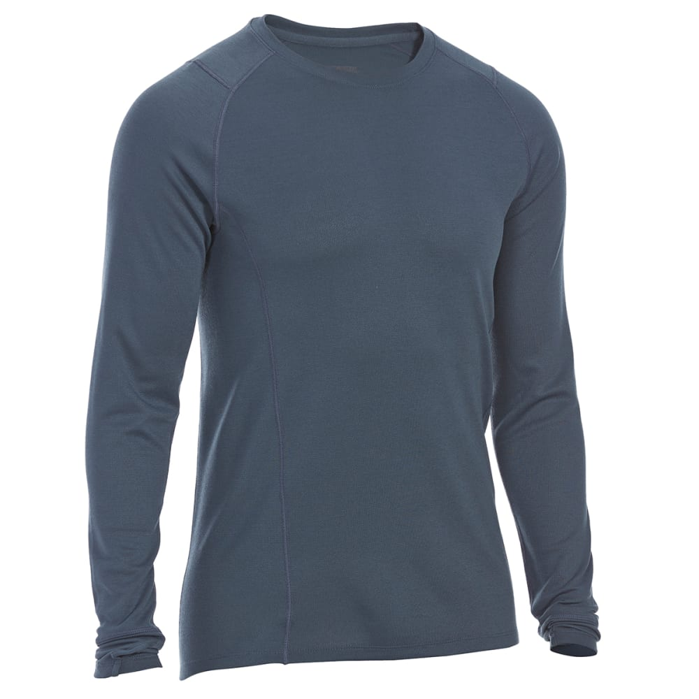 EMS Men's Techwick Midweight Long-Sleeve Crew Base Layer - MIDNIGHT NAVY