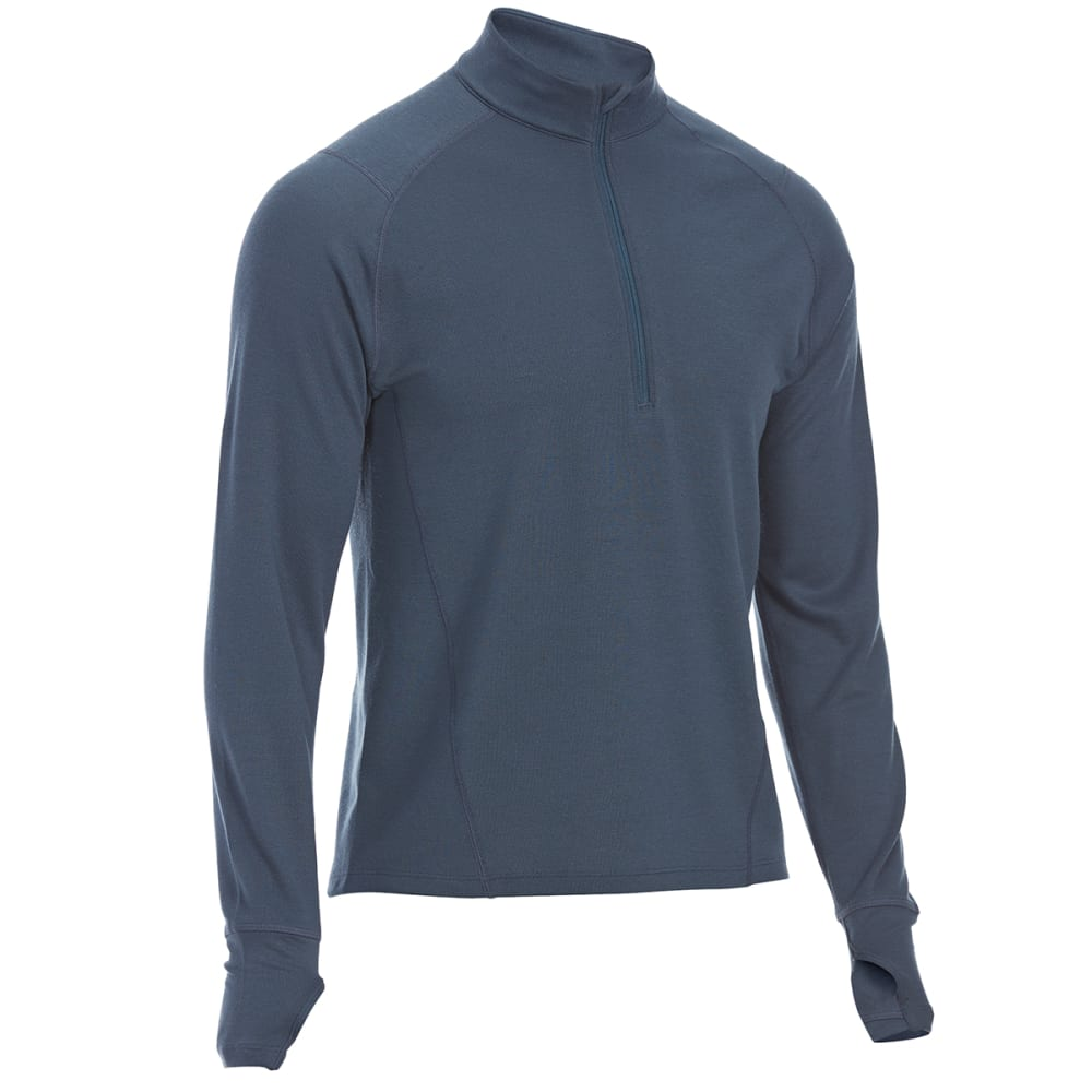 EMS Men's Techwick Midweight 1/4 Zip Base Layer - MIDNIGHT NAVY