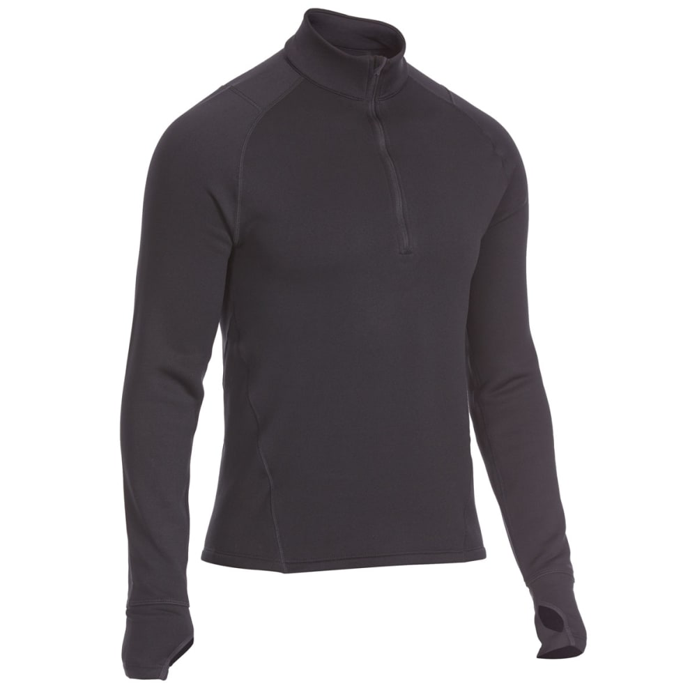 EMS® Men's Techwick® Heavyweight ¼-Zip Base Layer Top - BLACK