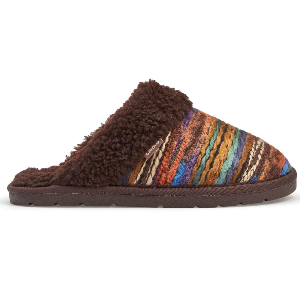 LAMO Women's Cora Knit Slippers, Chocolate - CHOCOLATE