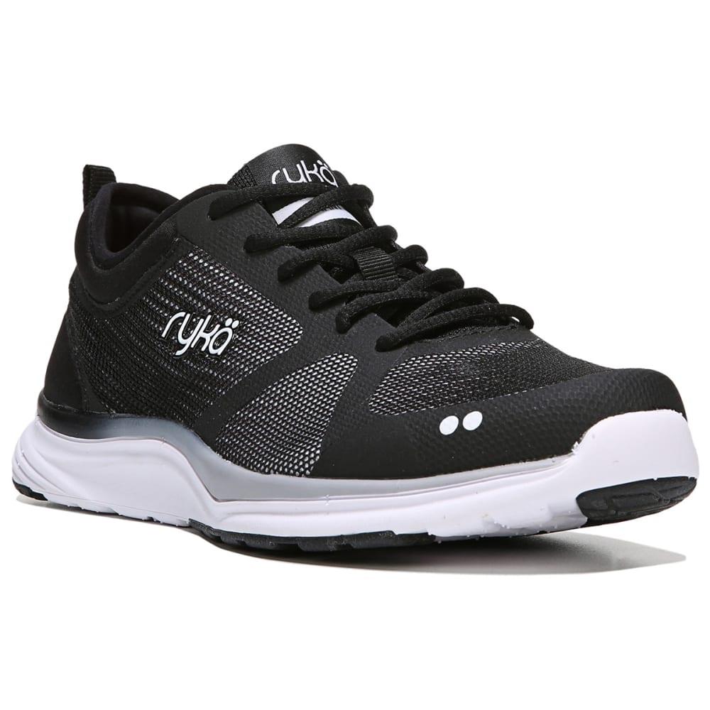 RYKA Women's Resonant NRG Cross-Training Shoes, Black/White - BLACK