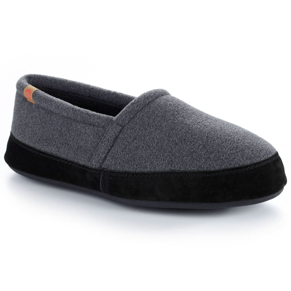 ACORN Men's Moc Slippers, Dark Charcoal - DARK CHARCOAL