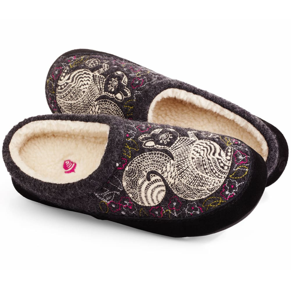 Image of Acorn Women's Boiled Wool Forest Mule Slippers, Grey Squirrel - Size S
