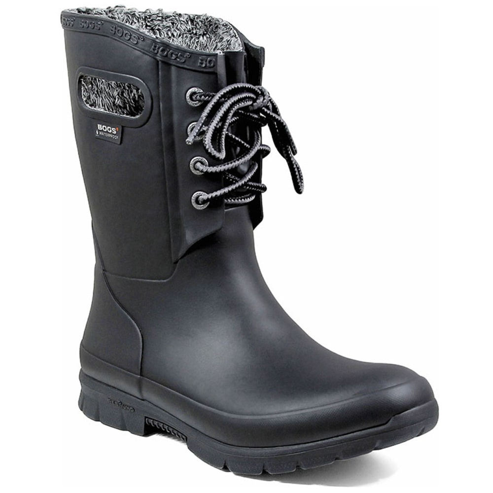 BOGS Women's Amanda Plush Waterproof Boots, Black - BLACK