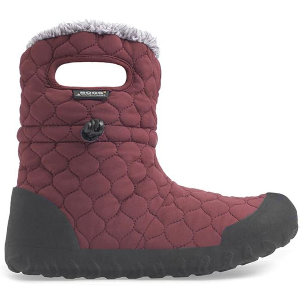 BOGS Women's B-Moc Quilted Puff Waterproof Boots - BURGUNDY