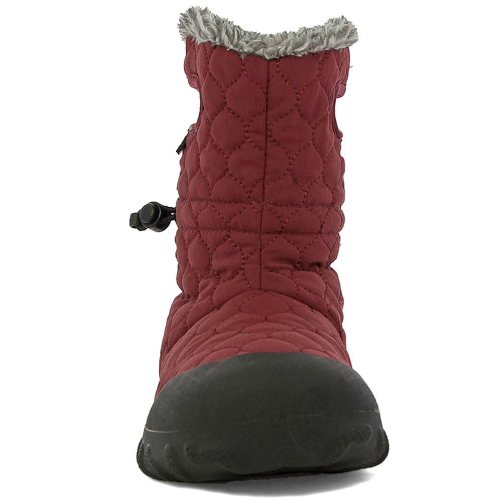 BOGS Women's B-Moc Quilted Puff Waterproof Boots, Burgundy - BURGUNDY