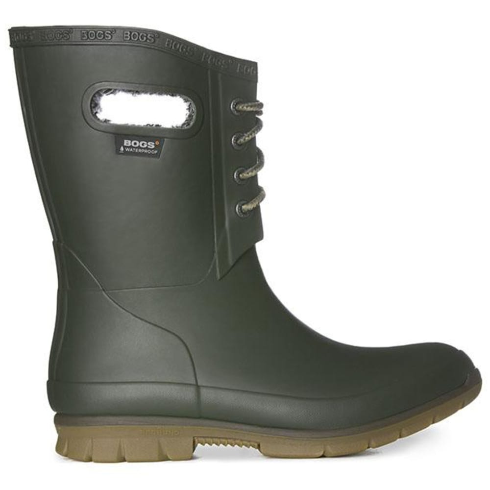 BOGS Women's Amanda Plush Waterproof Boots, Dark Green - DARK GREEN