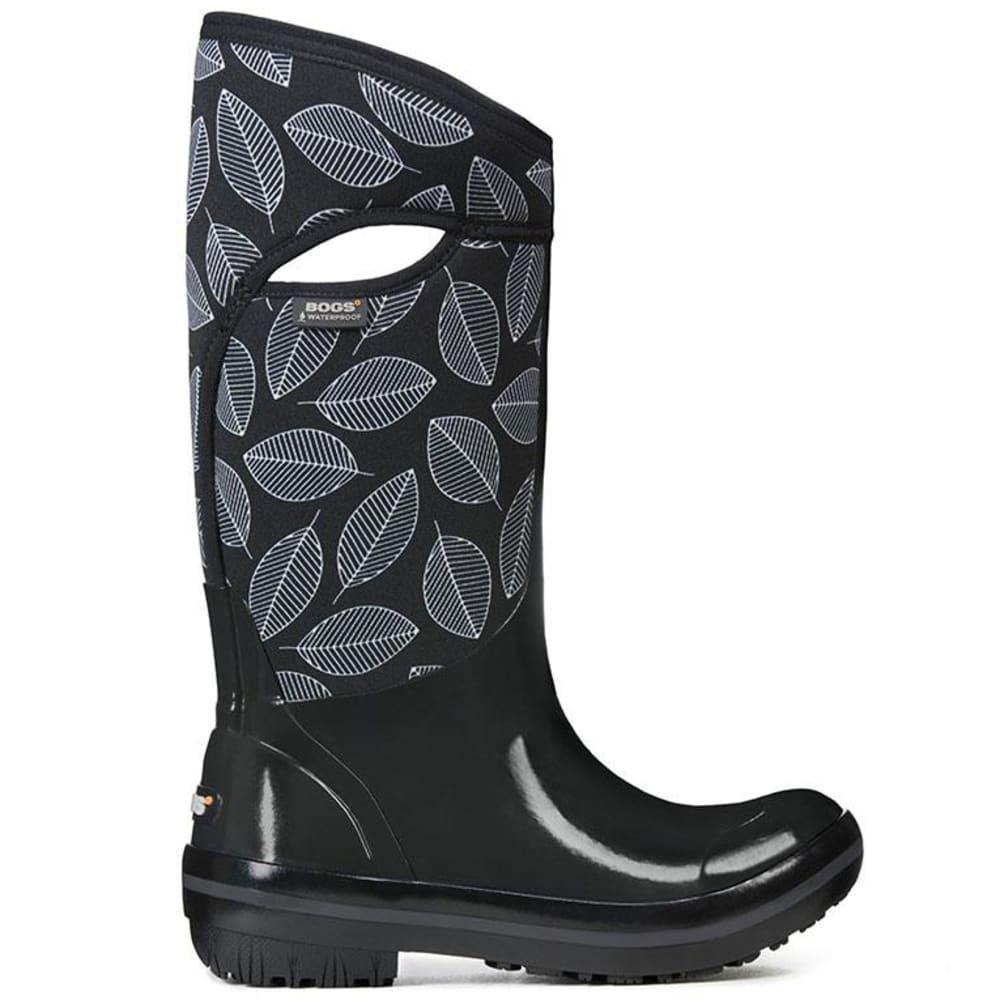 BOGS Women's Plimsoll Leafy Tall Waterproof Winter Boots, Black Multi - BLACK
