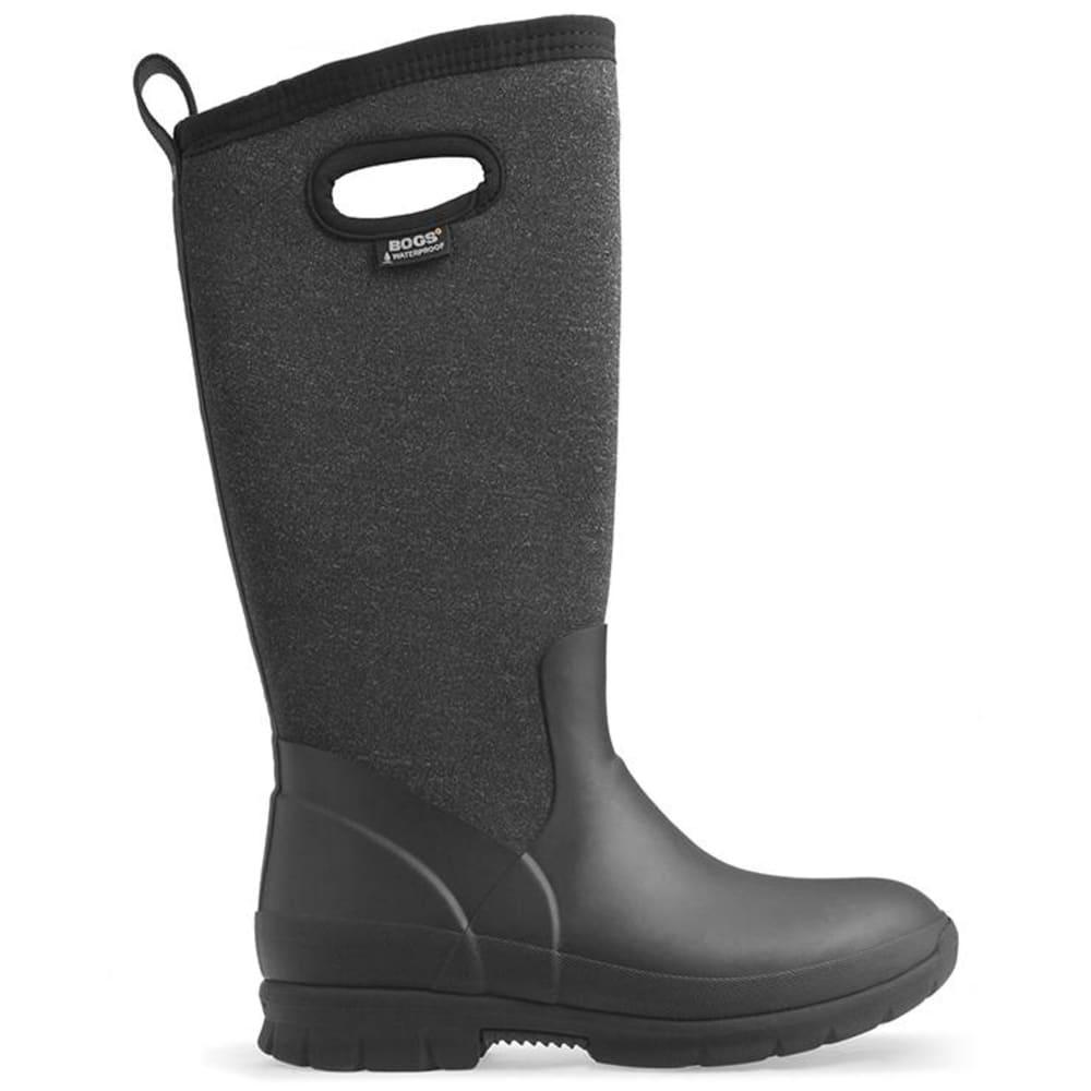 BOGS Women's Crandall Tall Waterproof Winter Boots, Black Multi - BLACK