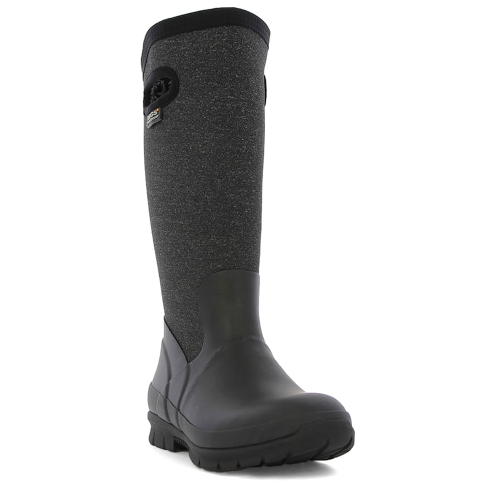 BOGS Women's Crandall Tall Waterproof Winter Boots, Black Multi 6