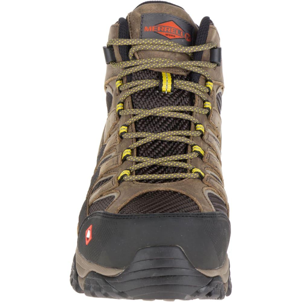 MERRELL Men's Moab 2 Vent Mid Waterproof Comp Toe Work Boots - BOULDER