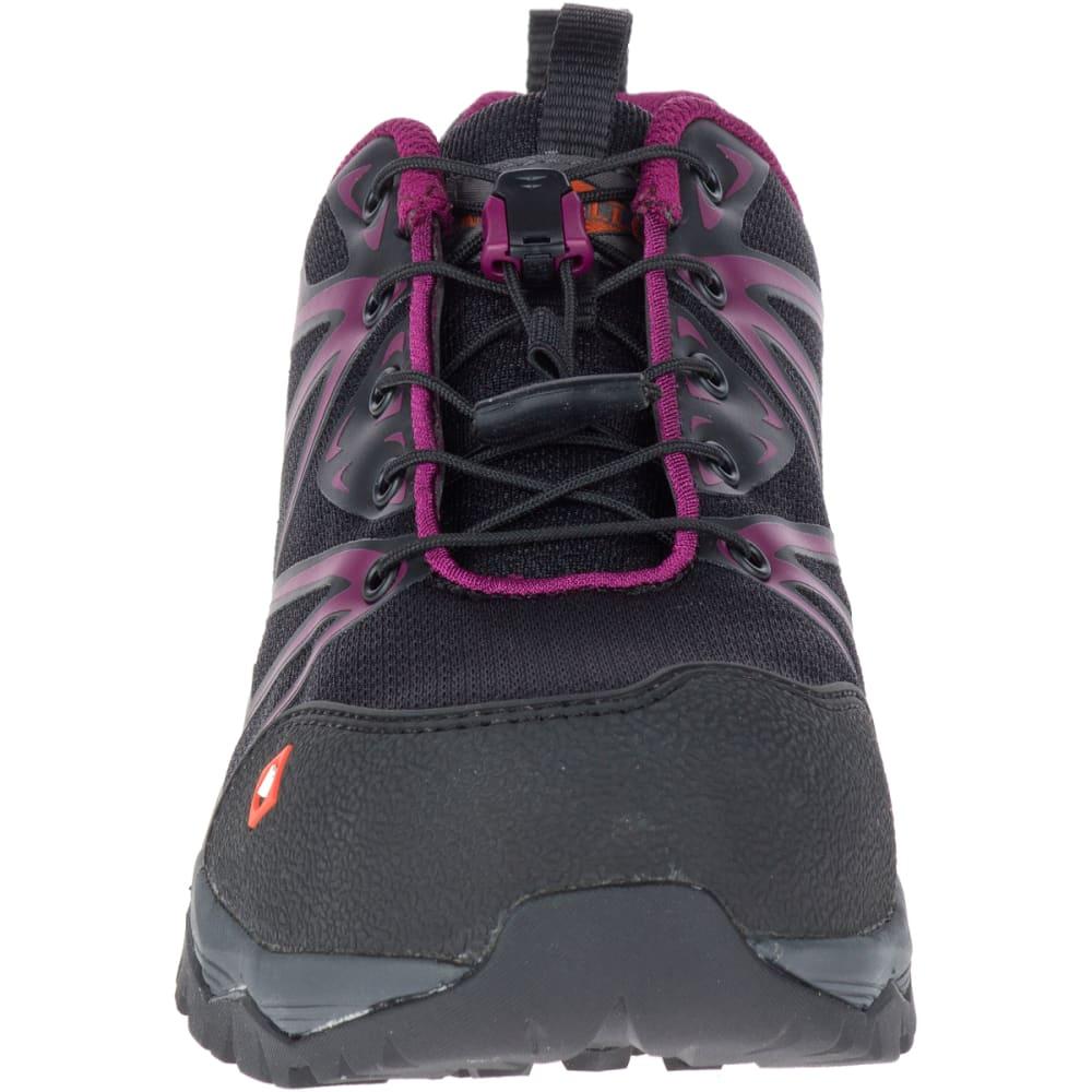 MERRELL Women's Full Bench Comp Toe Work Shoes - BLACK