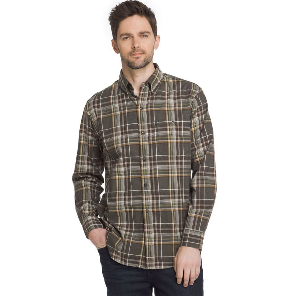 G.H. BASS & CO. Men's Madawaska Flannel Long-Sleeve Trail Shirt - FOREST NIGHT-363