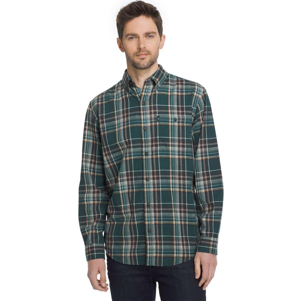 G.H. BASS & CO. Men's Madawaska Flannel Long-Sleeve Trail Shirt - BLU DEEP TEAL-405