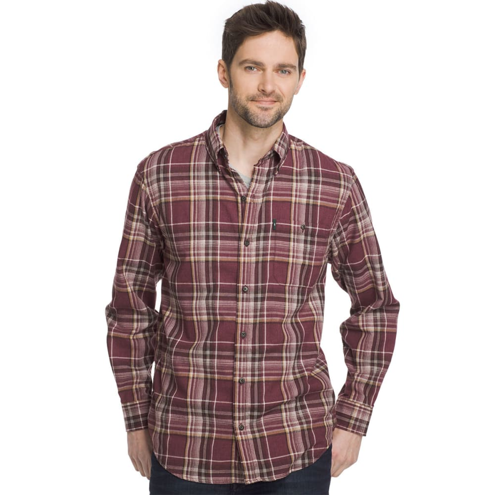 G.H. BASS & CO. Men's Madawaska Flannel Long-Sleeve Trail Shirt - CHOC TRUFFLE-606