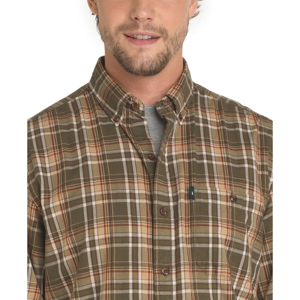 G.H. BASS & CO. Men's Madawaska Long-Sleeve Trail Shirt - FOREST NIGHT-314