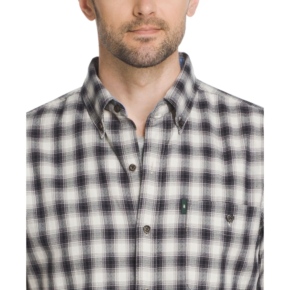 G.H. BASS & CO. Men's Campside Dobby Long-Sleeve Shirt - SILVER BIRCH-270
