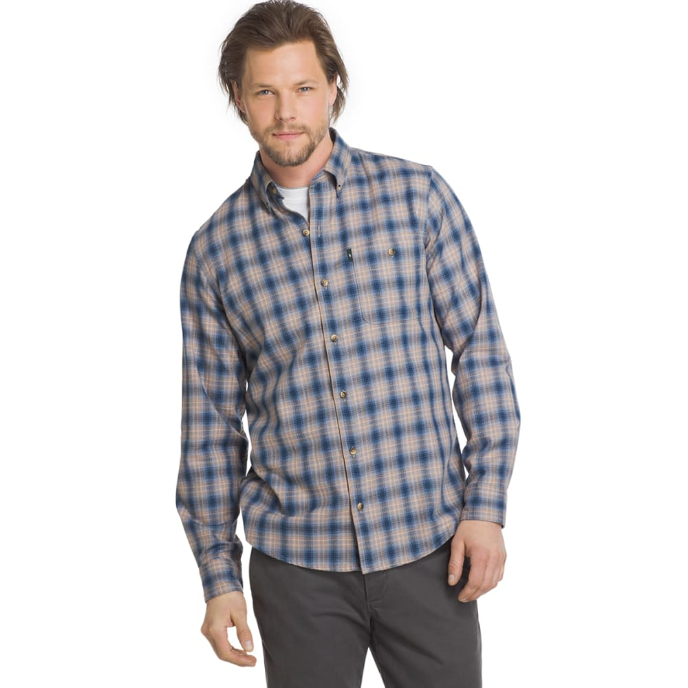 G.H. BASS & CO. Men's Campside Dobby Long-Sleeve Shirt - FADED DENIM-463