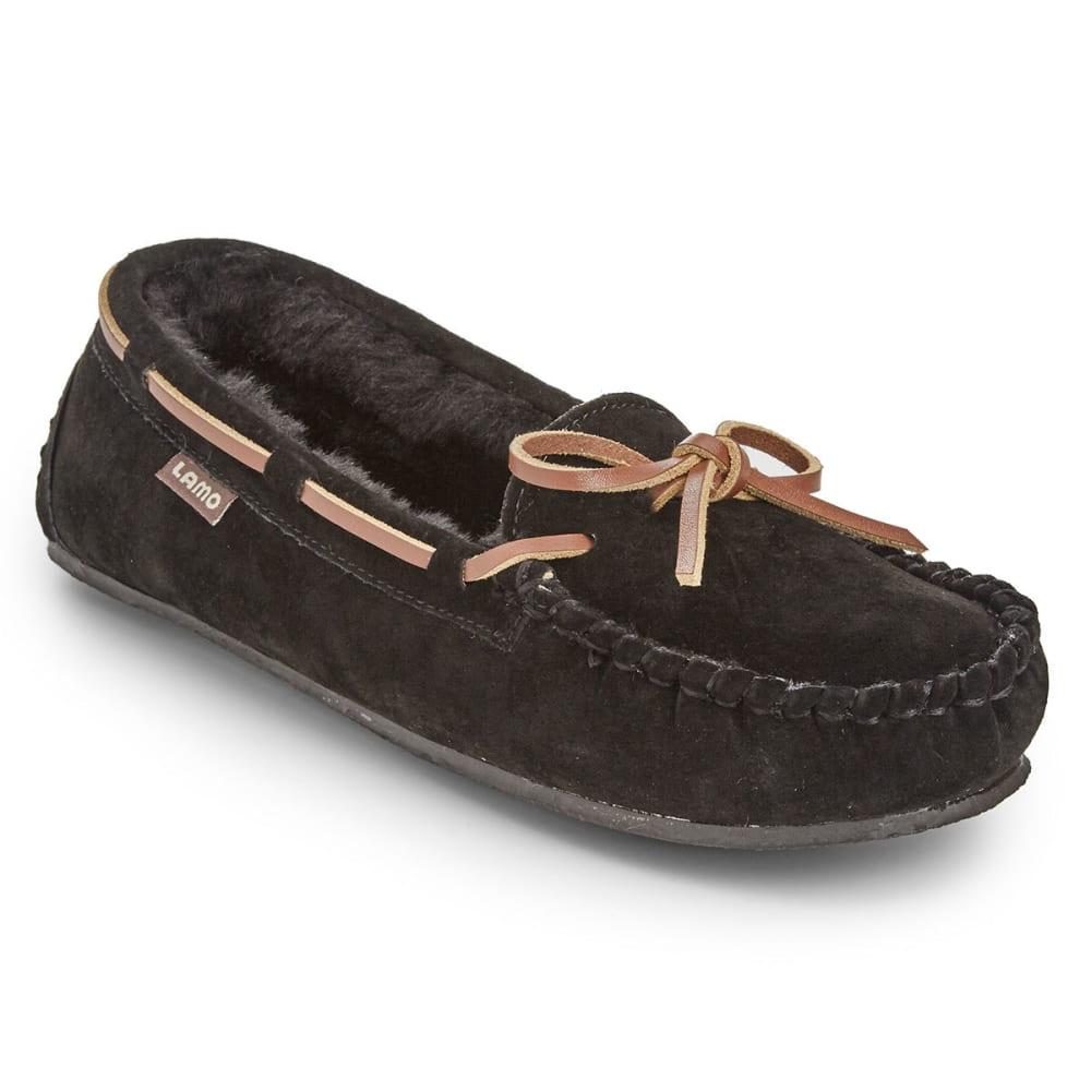LAMO Big Girls' Kayla Moc Slippers, Black 1