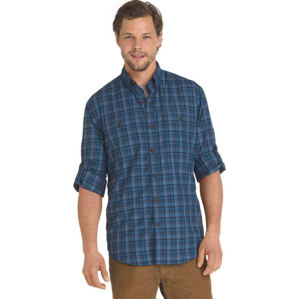 G.H. BASS & CO. Men's Plaid Explorer Sportsman Long-Sleeve Shirt - BLUE NIGHTS-471