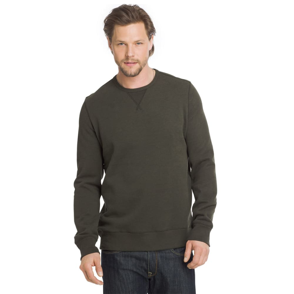 G.H. BASS & CO. Men's Sueded Mountain Fleece Long-Sleeve Pullover - FOREST HTR-363
