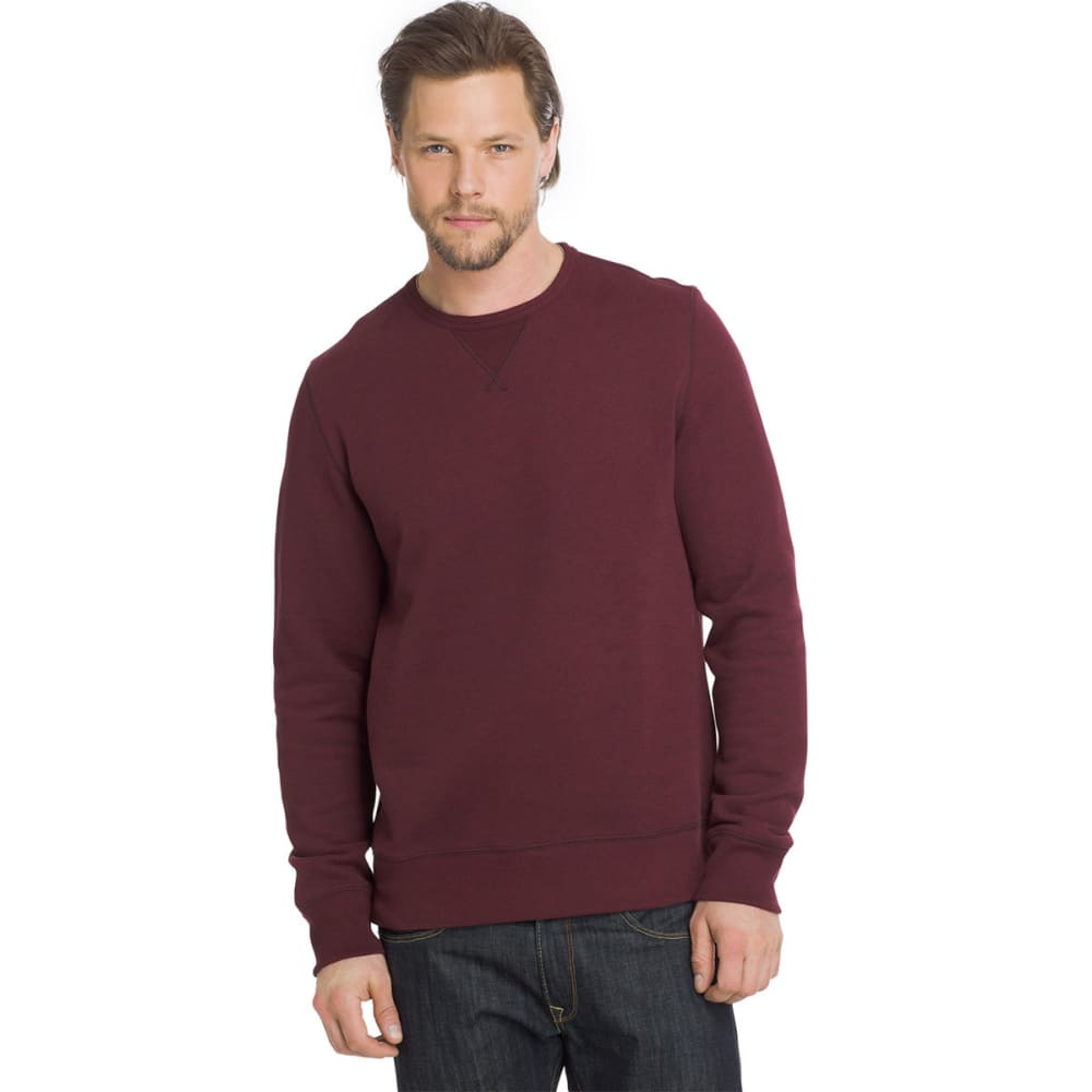 G.H. BASS & CO. Men's Sueded Mountain Fleece Long-Sleeve Pullover - CHOC TRUFFLE-606