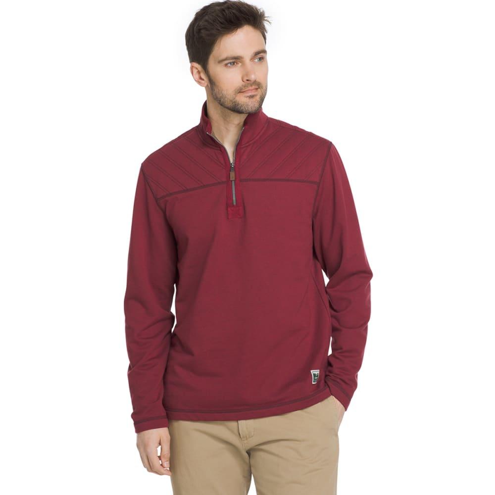 G.H. BASS & CO. Men's Quarter-Zip Fleece Pullover - POMEGRANTE HTR-629