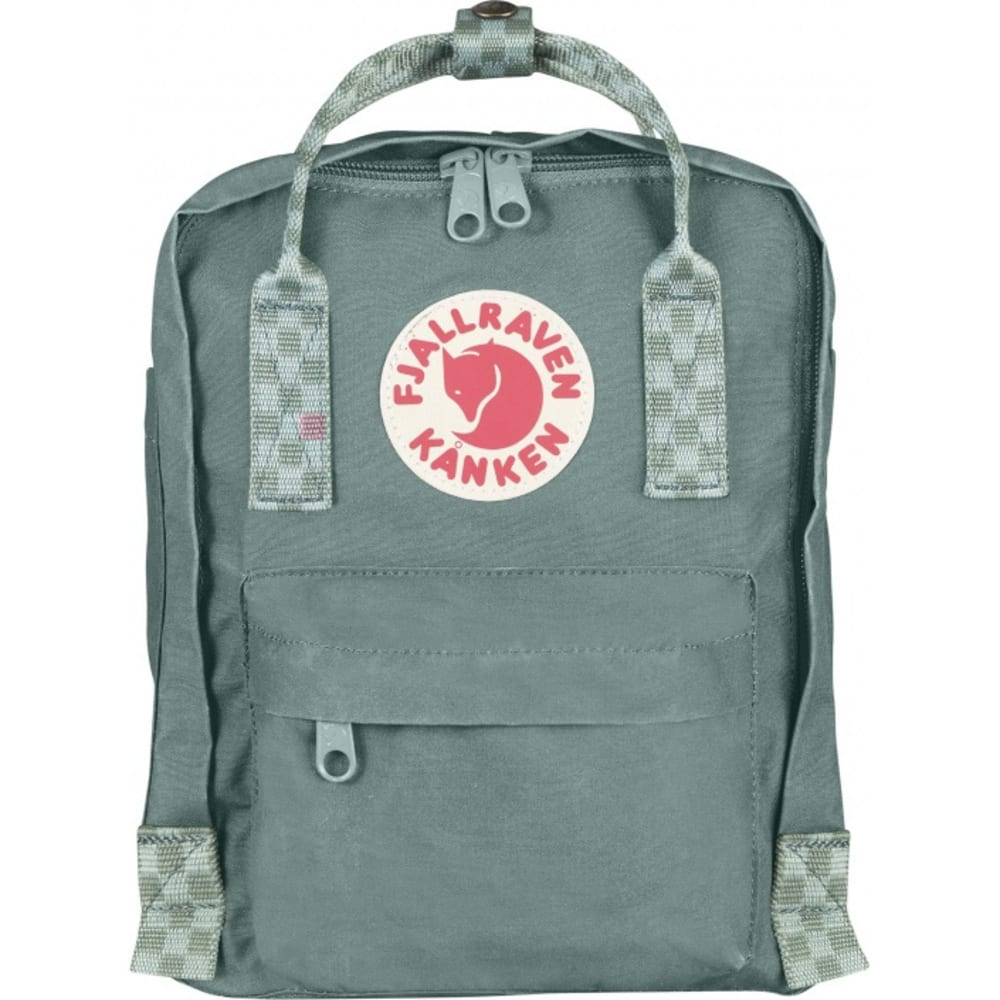 FJALLRAVEN Kånken Mini - FROST GREEN-CHESS