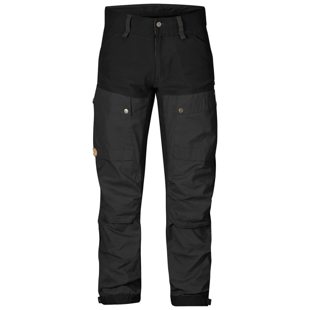 FJALLRAVEN Men's Keb Gaiter Trousers - BLACK/DARK GREY