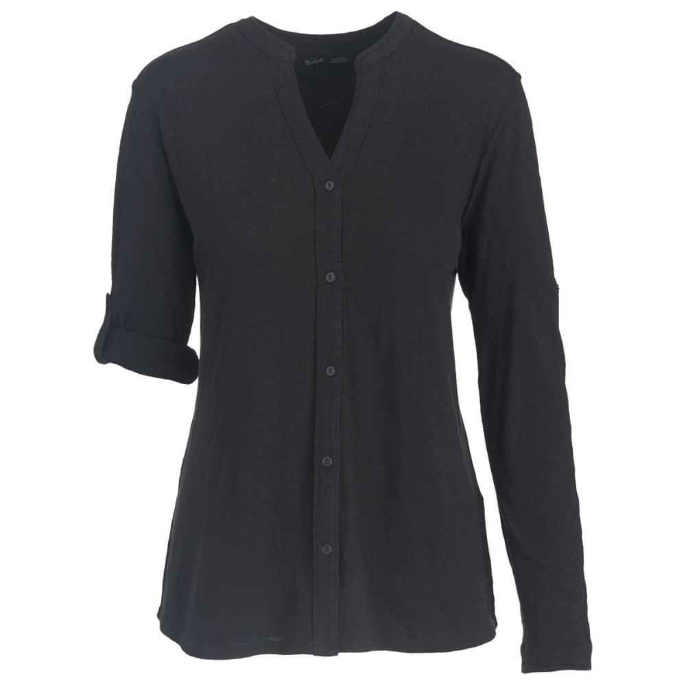 WOOLRICH Women's Silverwood Eco Rich Convertible Shirt - BLACK