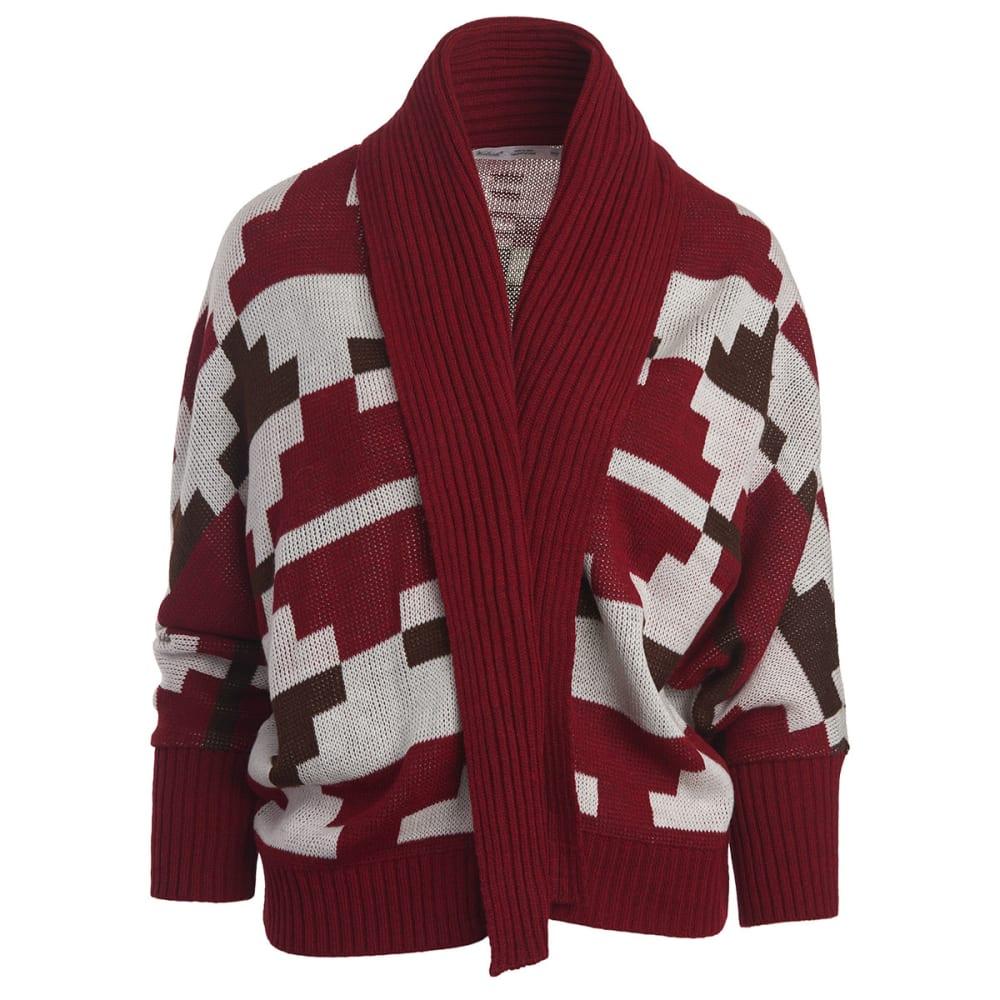 WOOLRICH Women's Harvest Cardigan Sweater - WINE MULTI