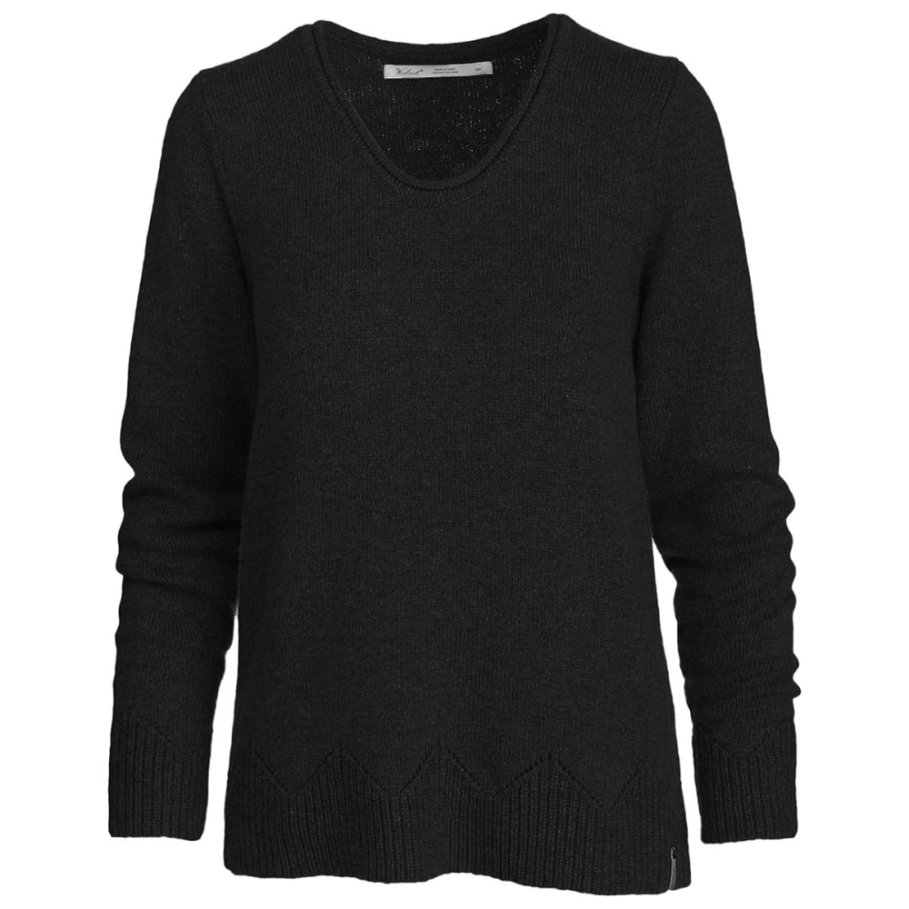 WOOLRICH Women's Maple Way Crew Sweater - CHARCOAL HEATHER