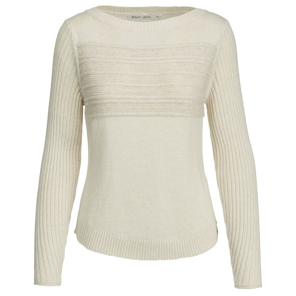 WOOLRICH Women's Apres Ski Eco Rich Sweater - IVORY MARL