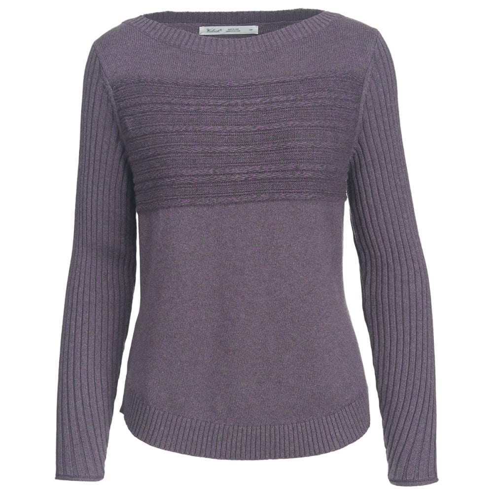 WOOLRICH Women's Apres Ski Eco Rich Sweater - PURPLE PLUM-MARL