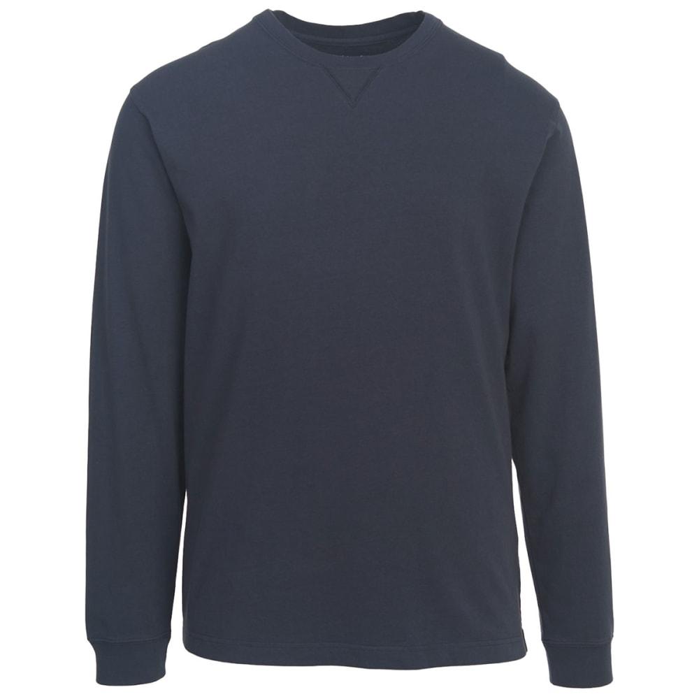 WOOLRICH Men's First Forks Long Sleeve T-Shirt - DEEP INDIGO