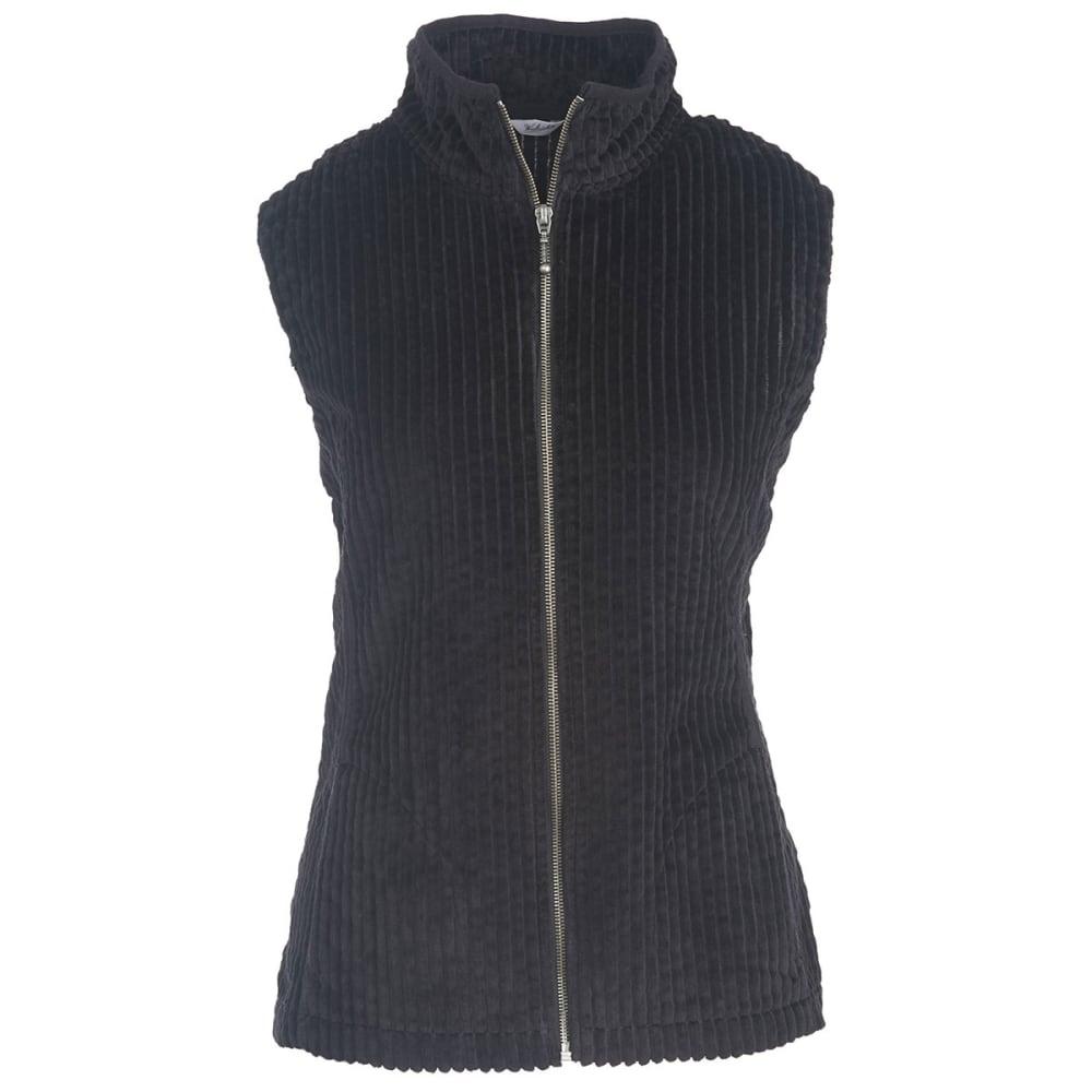 WOOLRICH Women's Kinsdale Corduroy Vest - BLACK