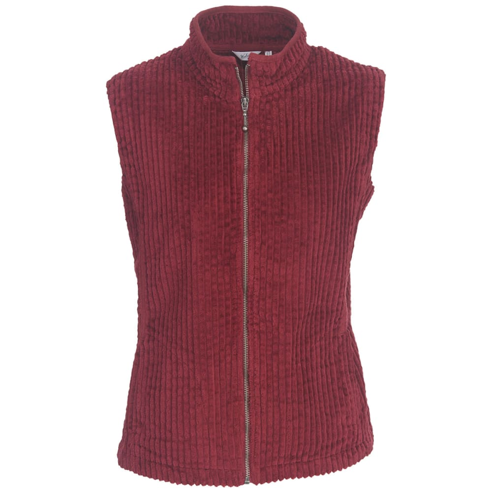 WOOLRICH Women's Kinsdale Corduroy Vest - CORDOVAN