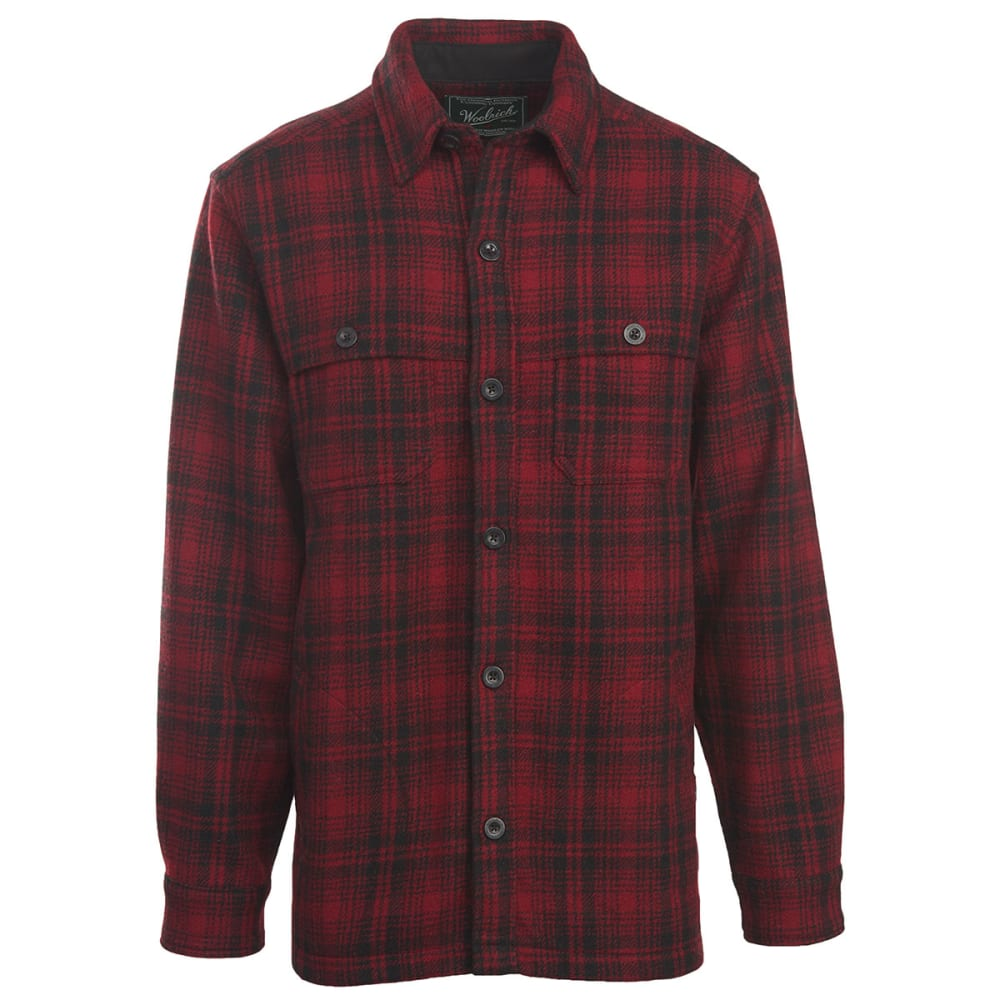 WOOLRICH Men's Wool Stag Shirt Jac - RED HUNT