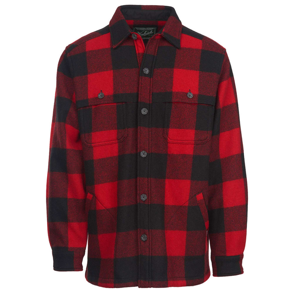 WOOLRICH Men's Wool Stag Shirt Jac - RED/BLACK
