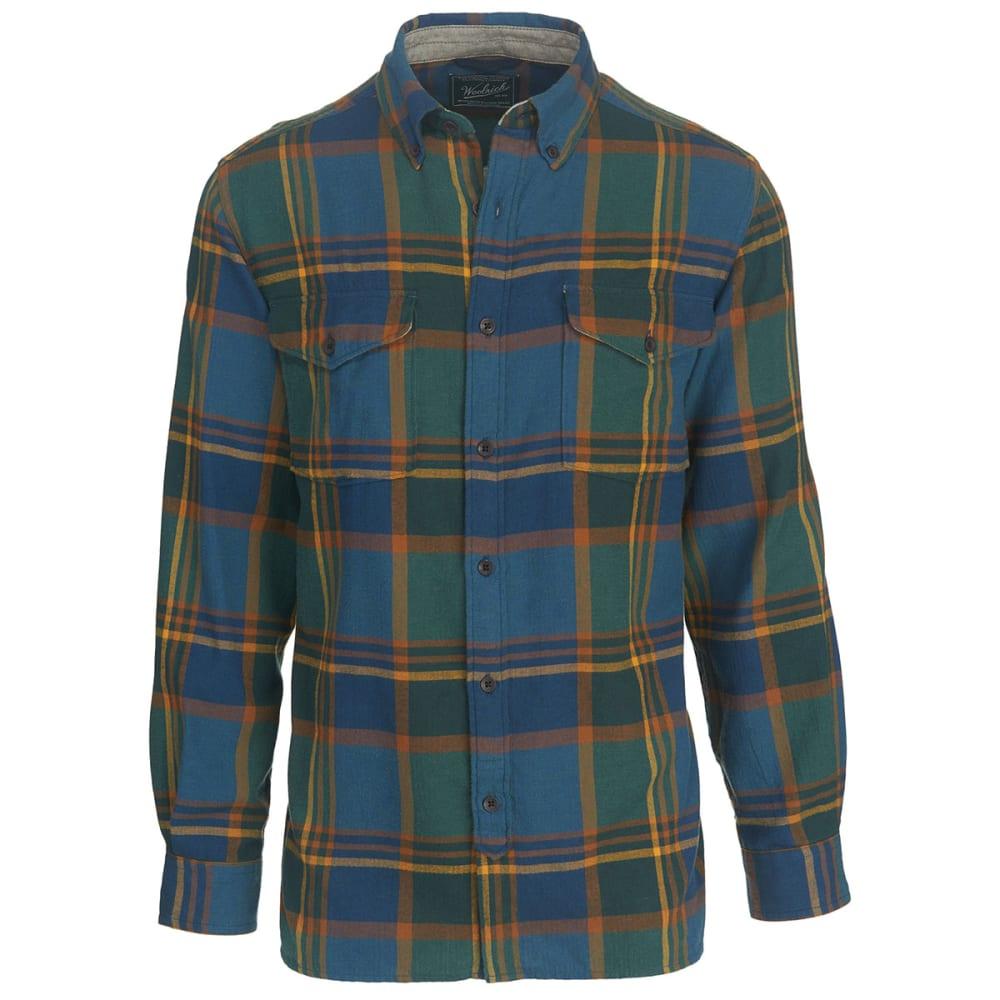 WOOLRICH Men's Stone Rapids Yarn-Dye Shirt - MALLARD GREEN