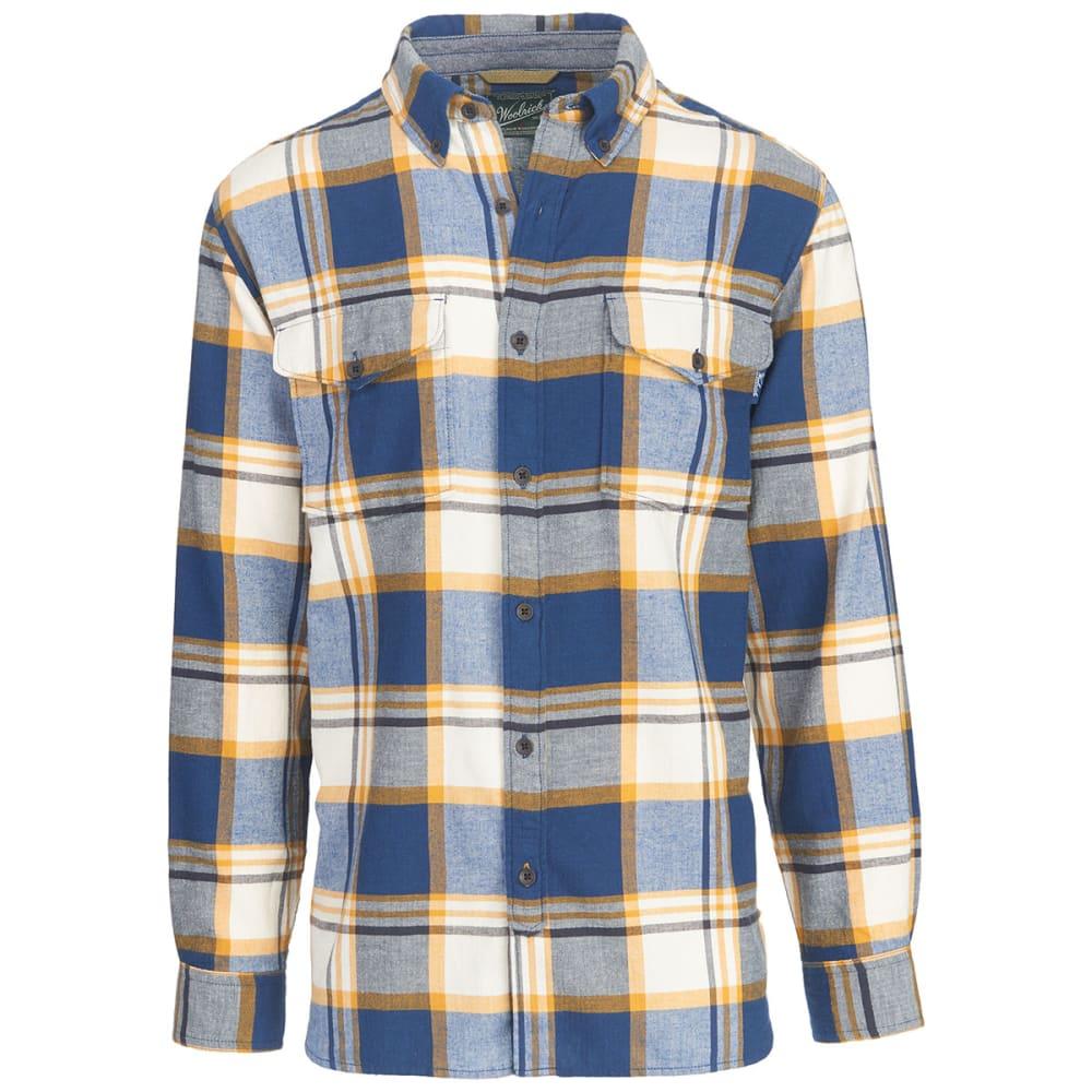 WOOLRICH Men's Stone Rapids Yarn-Dye Shirt - NEW ROYAL BLUE